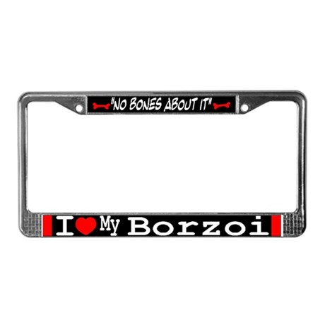 Borzoi Gifts License Plate Frame
