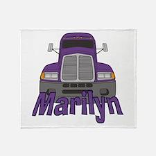 Trucker Marilyn Throw Blanket