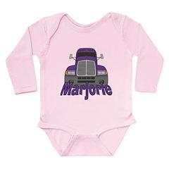 Trucker Marjorie Long Sleeve Infant Bodysuit