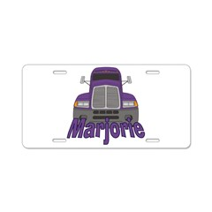 Trucker Marjorie Aluminum License Plate