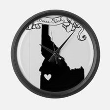 Boise.png Large Wall Clock
