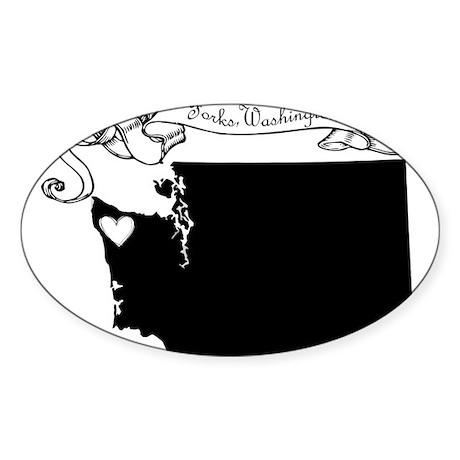 Forks.png Sticker (Oval)