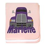 Trucker Marlene baby blanket