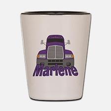 Trucker Marlene Shot Glass