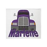 Trucker Marlene Throw Blanket