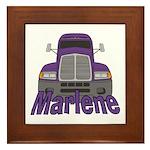 Trucker Marlene Framed Tile