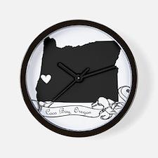 Coos Bay.png Wall Clock