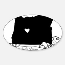 Bend.png Sticker (Oval)