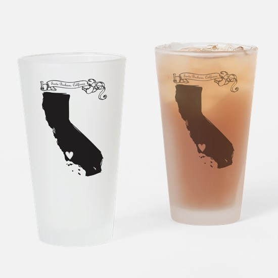 Santa Barbara.png Drinking Glass