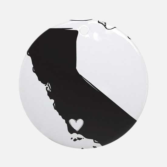 Santa Barbara.png Ornament (Round)