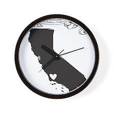 Santa Barbara.png Wall Clock