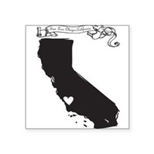 "San Luis Obispo.png Square Sticker 3"" x 3"""
