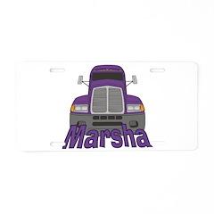 Trucker Marsha Aluminum License Plate