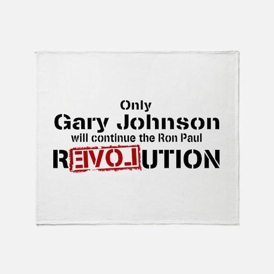 Gary Johnson Throw Blanket