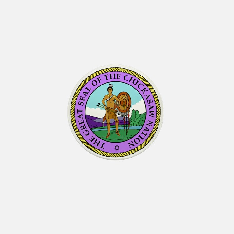 The Great Seal of the Chickasaw Nation Mini Button
