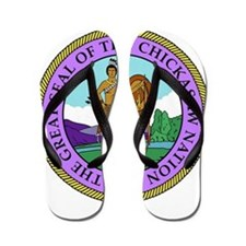 The Great Seal of the Chickasaw Nation Flip Flops