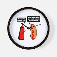 Meat Ketchup Wall Clock
