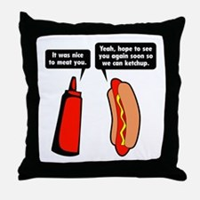 Meat Ketchup Throw Pillow