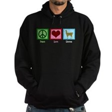 Peace Love Llamas Hoodie