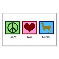 Peace Love Llamas Decal