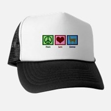 Peace Love Llamas Trucker Hat