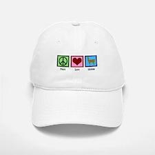 Peace Love Llamas Baseball Baseball Cap