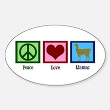Peace Love Llamas Decal
