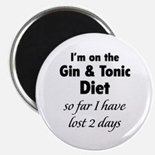 """Gin & Tonic Diet 2.25"""" Magnet (100 pack)"""