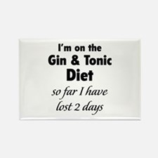 Gin & Tonic Diet Rectangle Magnet