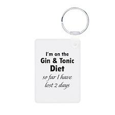 Gin & Tonic Diet Aluminum Photo Keychain