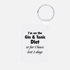 Gin & Tonic Diet Aluminum Photo Keychain