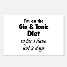 Gin & Tonic Diet Postcards (Package of 8)