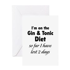 Gin & Tonic Diet Greeting Card