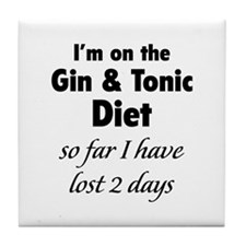 Gin & Tonic Diet Tile Coaster