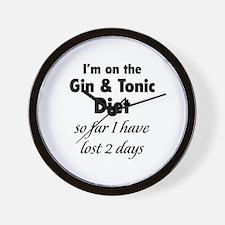 Gin & Tonic Diet Wall Clock
