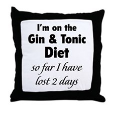Gin & Tonic Diet Throw Pillow