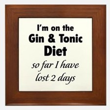Gin & Tonic Diet Framed Tile