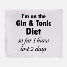 Gin & Tonic Diet Throw Blanket