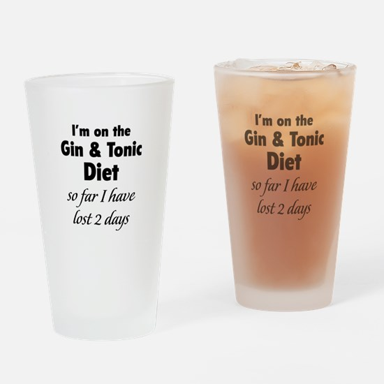 Gin & Tonic Diet Drinking Glass