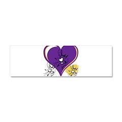 OYOOS Three Hearts design #1 Car Magnet 10 x 3