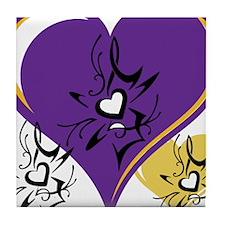 OYOOS Three Hearts design #1 Tile Coaster