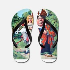 Alice and the Duchess_SQ.png Flip Flops