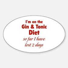 Gin & Tonic Diet Decal