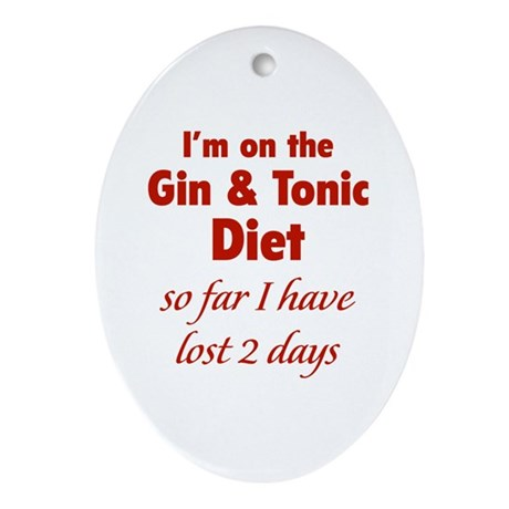 Gin & Tonic Diet Ornament (Oval)