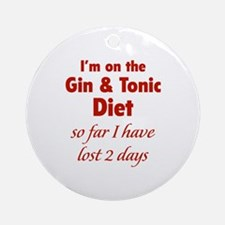 Gin & Tonic Diet Ornament (Round)