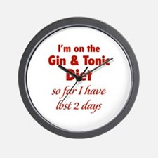 Gin & Tonic Diet Wall Clock