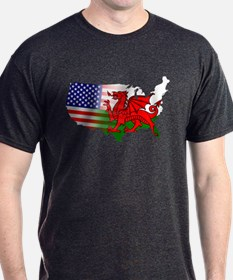 American Welsh Map T-Shirt
