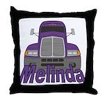 Trucker Melinda Throw Pillow