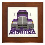 Trucker Melinda Framed Tile