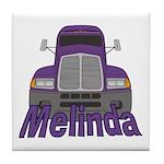 Trucker Melinda Tile Coaster